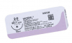 Викрил (Vicryl) 8/0, длина 30см, 2 шпательные иглы 6,5мм, 3/8 окр., фиолетовая нить (W9560) 2