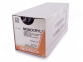 Рассасывающийся шовный материал Монокрил (Monocryl) 6/0, длина 45см, кол. игла 13мм, 1/2 окр., фиолетовая нить (W3224) Ethicon (Этикон) 1