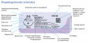 Рассасывающийся шовный материал Викрил (Vicryl) 1, длина 90см, кол-реж. игла 36мм, 1/2 окр., фиолетовая нить (W9465) Ethicon (Этикон) 2