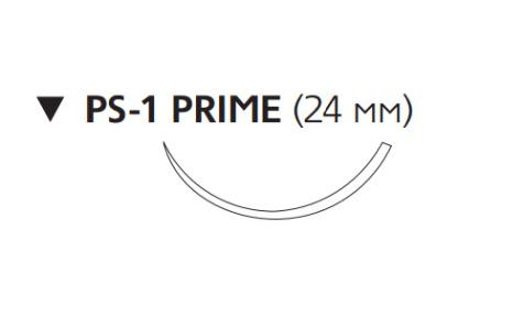 Этилон (Ethilon) 3/0, длина 45см, обр-реж. игла 24мм Prime, 3/8 окр., синяя нить (W1857T)