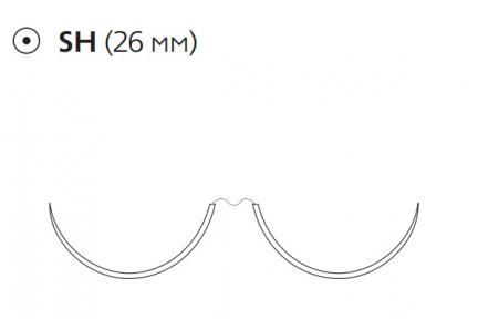 Нерассасывающийся шовный материал Пролен (Prolene) 5/0, длина 90см, 2 кол. иглы 26мм, 1/2 окр. (F1880) Ethicon (Этикон)