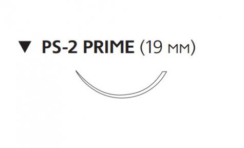 Нерассасывающийся шовный материал Пролен (Prolene) 4/0, длина 45см, обр-реж. игла 19мм Prime, 3/8 окр. (W8885T) Ethicon (Этикон)