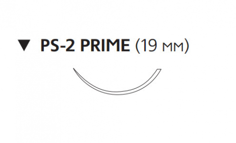 Пролен (Prolene) 4/0, длина 45см, обр-реж. игла 19мм Prime W8885T