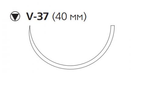 Викрил Плюс (Vicryl Plus) 2/0, длина 70см, кол-реж. игла 40мм, 1/2 окр., неокрашенная нить (VCP9900H)