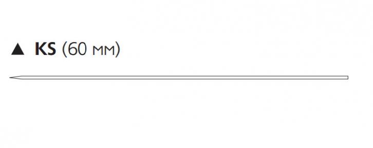 Викрил (Vicryl) 2/0, длина 75см, реж. игла 60мм W9718