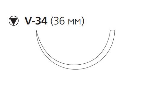 Рассасывающийся шовный материал с антибактериальным покрытием Монокрил Плюс (Monocryl Plus) 2/0, длина 70см, кол-реж. игла 36мм, 1/2 окр., фиолетовая нить (MCP3488G) Ethicon (Этикон)