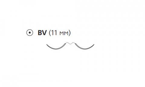 Этибонд Эксель (Ethibond Excel) 6/0, длина 75см, 2 кол. иглы 11мм BV W6597