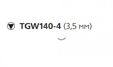Этилон (Ethilon) 9/0, длина 13см, кол. игла 3,5мм W2898