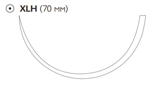 Викрил Плюс (Vicryl Plus) 1, длина 120см, кол. игла 70мм VCP584G