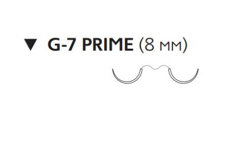 Рассасывающийся шовный материал Викрил (Vicryl) 8/0, длина 30см, 2 обр-реж. иглы 8мм Prime, 1/2 окр., фиолетовая нить (W9545) Ethicon (Этикон)