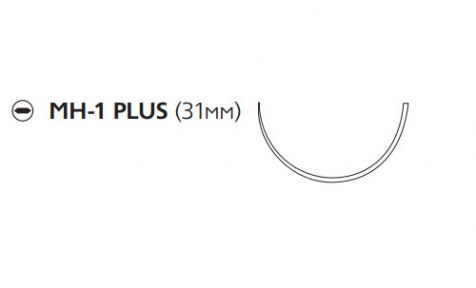 Этибонд Эксель (Ethibond Excel) 2/0, длина 75см, кол. игла 31мм Plus W932