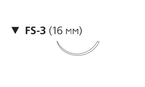 Монокрил Плюс (Monocryl Plus) 5/0, длина 45см, обр-реж. игла 16мм MCP3221G
