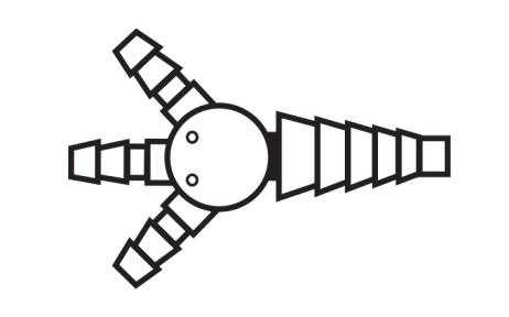 Блейк (Blake) кардиоконнектор 3:1 подходят только к дренажам 19 FR и 24 FR (BCC3) Ethicon (Этикон)