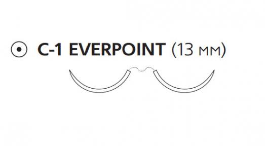 Пролен (Prolene) 6/0, длина 60см, 2 кол. иглы 13мм Everpoint EP8726H