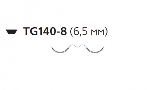 Нерассасывающийся шовный материал Этилон (Ethilon) 9/0, длина 30см, 2 шпательные иглы 6,5мм, 3/8 окр., черная нить (W1717) Ethicon (Этикон)