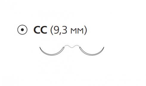 ПДС II (PDS II) 6/0, длина 70см, 2 кол. иглы 9,3мм CC, 3/8 окр., фиолетовая нить (Z1712H)