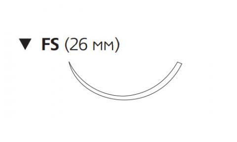 Нерассасывающийся шовный материал Нуролон (Nurolon) 2/0, длина 45см, обр-реж. игла 26мм, 3/8 окр. (W5321) Ethicon (Этикон)
