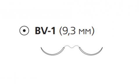 ПДС II (PDS II) 7/0, длина 70см, 2 кол. иглы 9,3мм BV, 3/8 окр., фиолетовая нить (Z1701E)