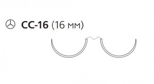 Пролен (Prolene) 3/0, длина 90см, 2 кол. иглы 16мм CC W8667
