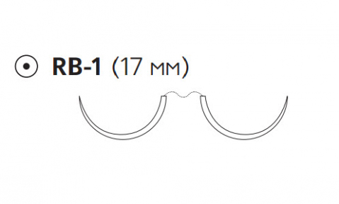 ПДС Плюс (PDS Plus) 5/0, длина 90см, 2 кол. иглы 17мм PDP9108H