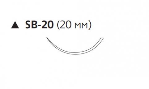 Пролен (Prolene) 5/0, длина 45см, реж. игла 20мм, 3/8 окр. (BP8390)