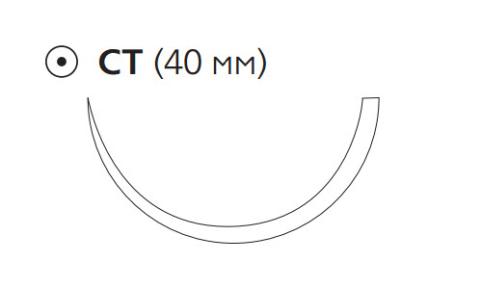 Монокрил Плюс (Monocryl Plus) 2/0, длина 90см, кол. игла 40мм MCP4957H