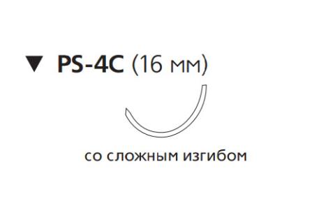 Викрил Рапид (Vicryl Rapide) 5/0, длина 45см, обр-реж. игла 16мм W9910