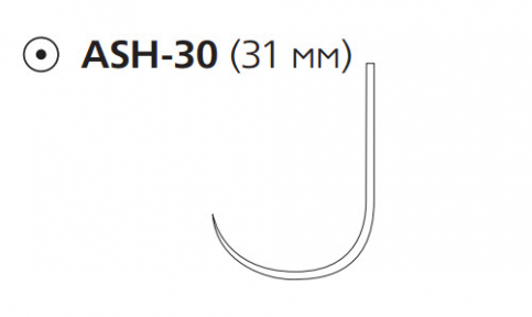 Нуролон (Nurolon) 1, длина 75см, кол. игла 31мм, крючок (W5985)