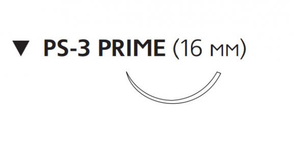 Рассасывающийся шовный материал Монокрил (Monocryl) 4/0, длина 45см, обр-реж. игла 16мм Prime, 3/8 окр., неокрашенная нить (W3205) Ethicon (Этикон)