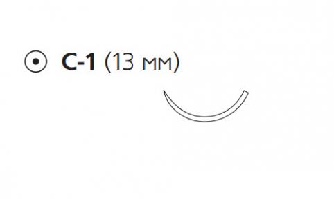 Пролен (Prolene) 5/0, длина 75см, кол. игла 13мм W8890