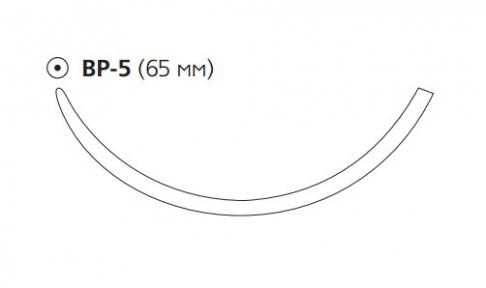 Рассасывающийся шовный материал Викрил (Vicryl) 1, длина 100см, тупоконечная игла 65мм, 3/8 окр., фиолетовая нить (W9391) Ethicon (Этикон)