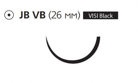 Монокрил (Monocryl) 2/0, длина 70см, кол. игла 26мм Visi Black W3665
