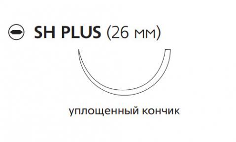 Рассасывающийся шовный материал ПДС II (PDS II) 3/0, длина 70см, кол. игла 26мм, 1/2 окр., уплощенный кончик, фиолетовая нить (W9124H) Ethicon (Этикон)