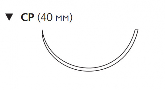 Нерассасывающийся шовный материал Пролен (Prolene) 0, длина 100см, обр-реж. игла 40мм, 1/2 окр. (W8470) Ethicon (Этикон)