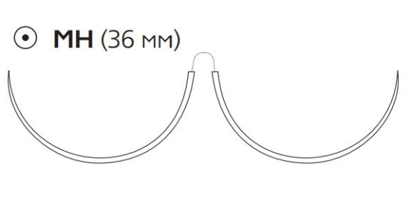 Нерассасывающийся шовный материал Пролен (Prolene) 0, длина 90см, 2 кол. иглы 36мм, 1/2 окр. (PGG5695H) Ethicon (Этикон)
