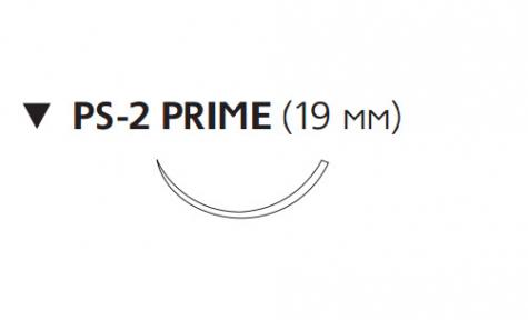 Рассасывающийся шовный материал Викрил (Vicryl) 4/0, длина 45см, обр-реж. игла 19мм Prime, 3/8 окр., неокрашенная нить (W9515T) Ethicon (Этикон)