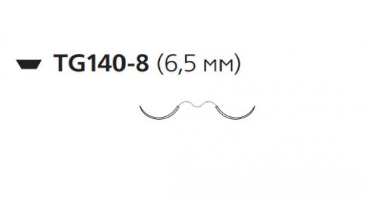 Викрил (Vicryl) 7/0, длина 30см, 2 шпательные иглы 6,5мм, 3/8 окр., фиолетовая нить (W9561)