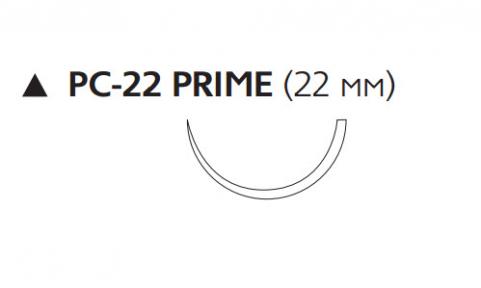 Рассасывающийся шовный материал Викрил Рапид (Vicryl Rapide) 4/0, длина 45см, реж. игла 22мм Prime, 1/2 окр., неокрашенная нить (W9926) Ethicon (Этикон)