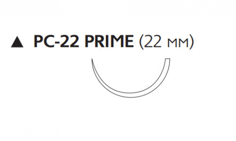 Викрил Рапид (Vicryl Rapide) 4/0, длина 45см, реж. игла 22мм Prime W9926