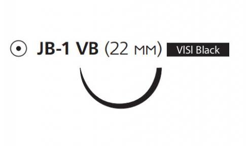 Рассасывающийся шовный материал с антибактериальным покрытием Викрил Плюс (Vicryl Plus) 3/0, длина 70см, кол. игла 22мм Visi Black, 1/2 окр., фиолетовая нить (VCP3110H) Ethicon (Этикон)