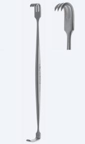 Ретрактор (ранорасширитель) раневой двусторонний Mathieu (Матьё) WH0135
