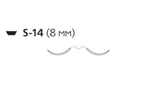 Мерсилен (Mersilene) 5/0, длина 45см, 2 иглы 8мм W843