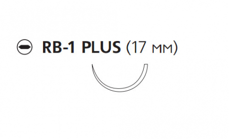 Викрил Плюс (Vicryl Plus) 2/0, длина 70см, кол. игла 17мм VCP306H