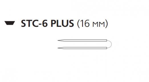 Нерассасывающийся шовный материал Пролен (Prolene) 10/0, длина 23см, 2 шпательные иглы 16мм Plus, прямая (W1713) Ethicon (Этикон)