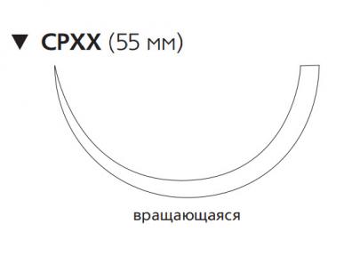 Хирургическая проволока из нержавеющей стали (Surgical Steel) 5, длина 75см, обр-реж. игла 55мм, 1/2 окр., игла вращающаяся (W995) Ethicon (Этикон)