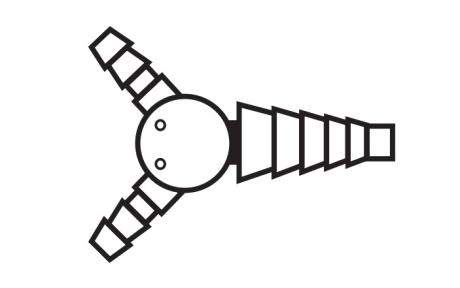 Блейк (Blake) кардиоконнектор 2:1 подходят только к дренажам 19 FR и 24 FR (BCC2)