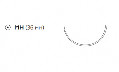Этибонд Эксель (Ethibond Excel) 2/0, длина 75см, кол. игла 36мм W976