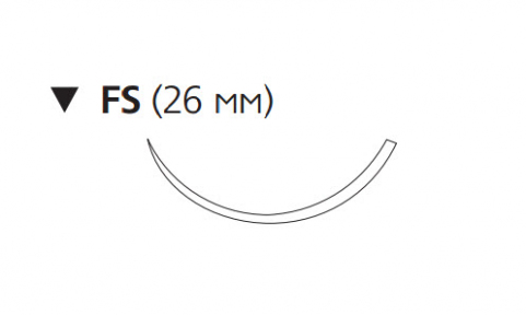 Викрил Рапид (Vicryl Rapide) 3/0, длина 75см, обр-реж. игла 26мм W9940