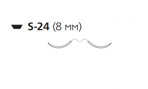 Викрил (Vicryl) 5/0, длина 45см, 2 шпательные иглы 8мм W9553
