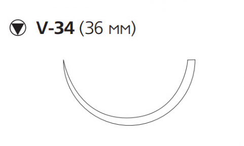ПДС Плюс (PDS Plus) 0, длина 90см, кол-реж. игла 36мм PDP9381H